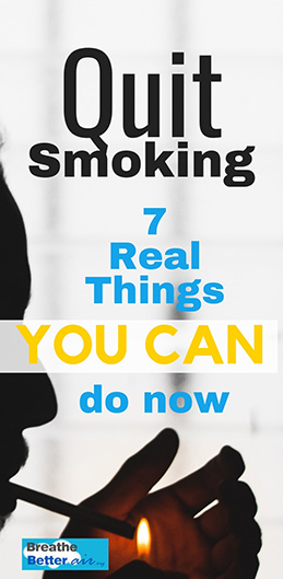 Quit Smoking – 7 Real Things You Can Do Now