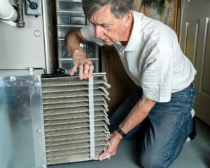 What is a dirty furnace filter look like
